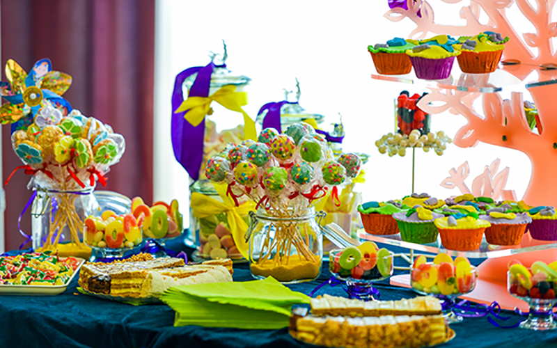 Candy Buffet - green and orange theme