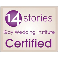 14 Stories Gay Wedding Institute Certified Logo