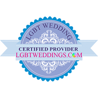 LGBT Certified Wedding Provider logo