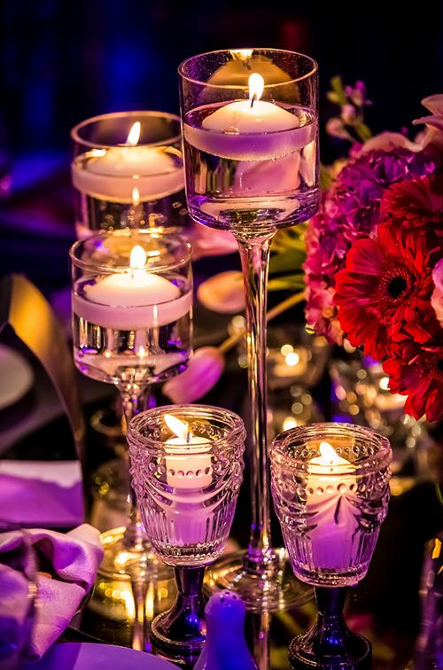 Corporate Event Centerpiece Candles