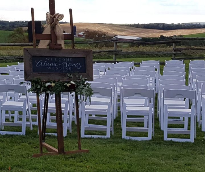 Barn wedding - ceremony set-up