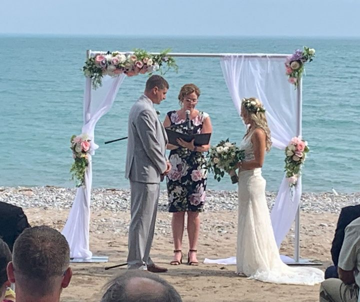 Private property beach wedding